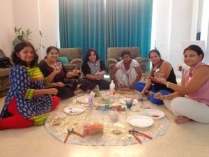 Learning the Mosaic Arts at a workshop in Gurgaon