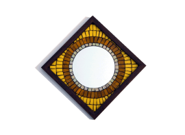 Big Brother Mosaic Mirror Yellow 12x12