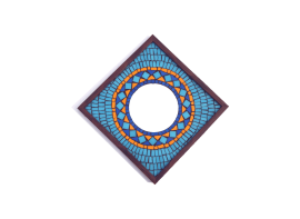 Blue Rangoli Mosaic Mirror 12x12