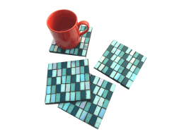 Chatai Maze Coasters with Cup