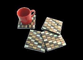 Chatai Maze Gold Set of 4 Coasters
