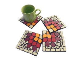 Morning Glory Coasters with Cup