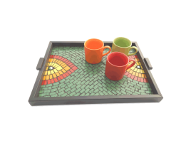 Namaste India Mosaic Tray