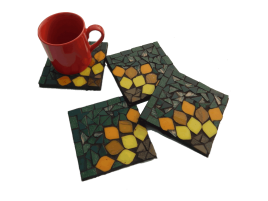 Sunflower Coasters with Cup